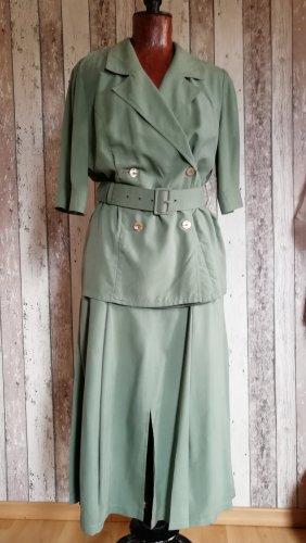 Tailleur verde-grigio Seta