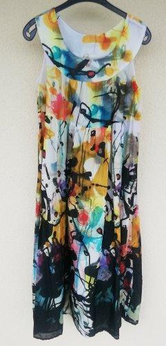 sommerlich gemustertes luftiges Baumwollkleid im Hängerchen-Stil