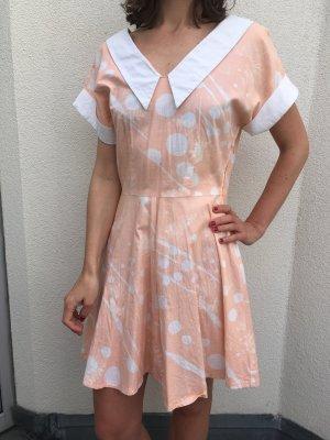 Sommerlich gemustertes Vintage Minikleid in Größe 36