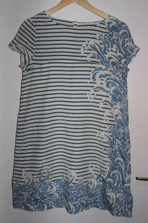 Sommerlich süßes Tunikakleid mit Streifen und japanischen Wellen