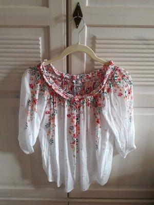 Sommerliche Bluse mit Blüten
