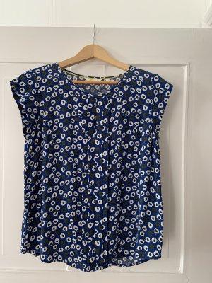 Boden Short Sleeved Blouse blue-white