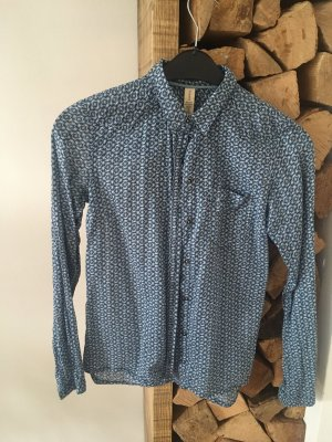 Campus by Marc O'Polo Long Sleeve Blouse natural white-cornflower blue