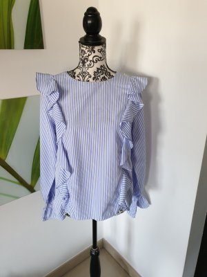 Lucy wang Ruffled Blouse white-azure