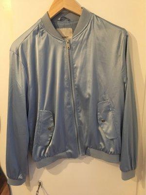 Pull & Bear Giacca bomber azzurro-argento