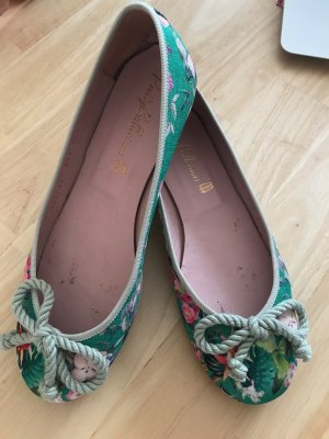 Pretty ballerinas Patent Leather Ballerinas green leather