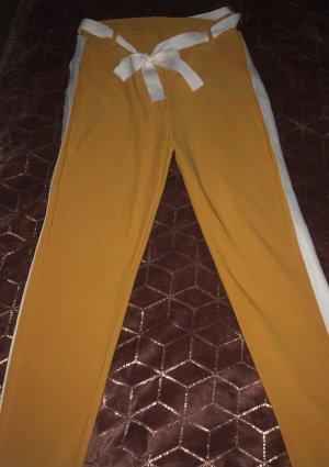 Lage taille broek licht Oranje-wit