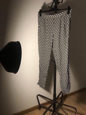 H&M Harem Pants black-white
