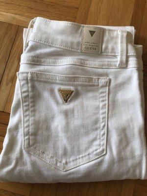 Guess Pantalone a vita bassa bianco