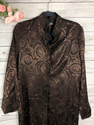 Sommerliche Jacke mit Muster Braun Glänzend  Gr: 40/42