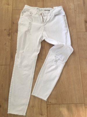 Fresh made Jeans a sigaretta bianco