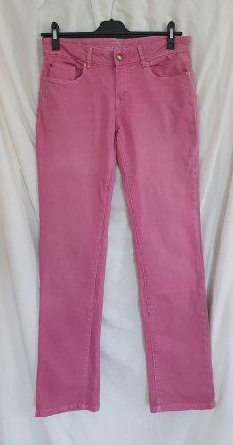 Esprit Jeansy z prostymi nogawkami różowy Bawełna