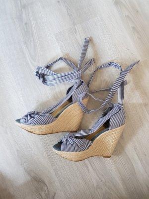 H&M Escarpin compensé blanc-bleu