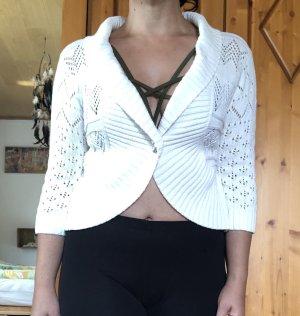 Laura Torelli Boléro en tricot blanc cassé-blanc