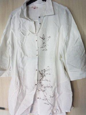 Bagoraz Blusa de lino blanco Lino