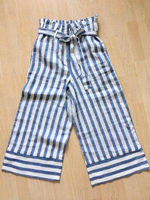 armedangels Pantalón de lino blanco-azul celeste Lino