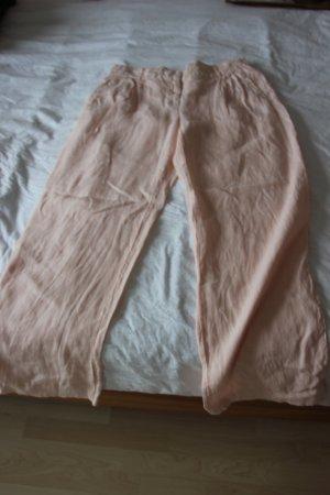 Zara Pantalon en lin or rose-jaune clair