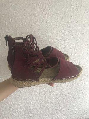 H&M Espadrille Sandals bordeaux