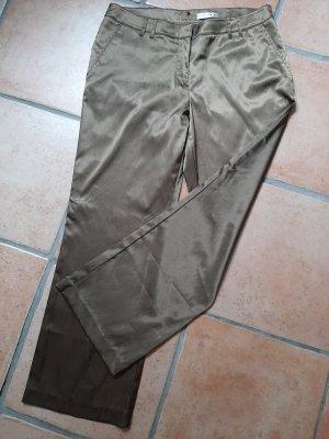Comma Spodnie materiałowe oliwkowy Poliester