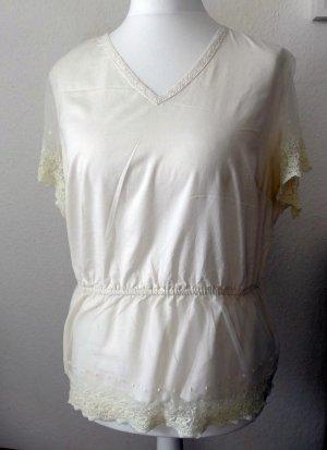 Rainbow Lace Blouse natural white mixture fibre