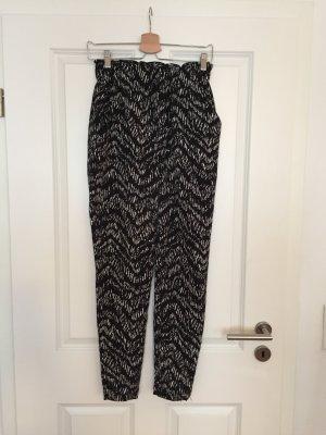 H&M Pantalone alla turca bianco-nero Poliestere