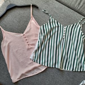 Tally Weijl Strappy Top pink-green