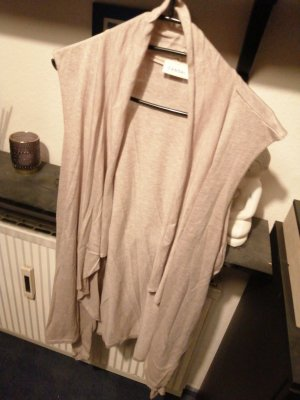 Canda Long Knitted Vest grey brown