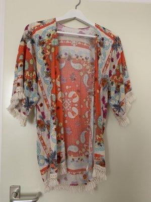 Kimono blouse veelkleurig