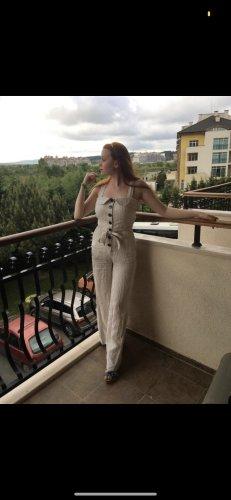 Mango Jumpsuit natural white linen