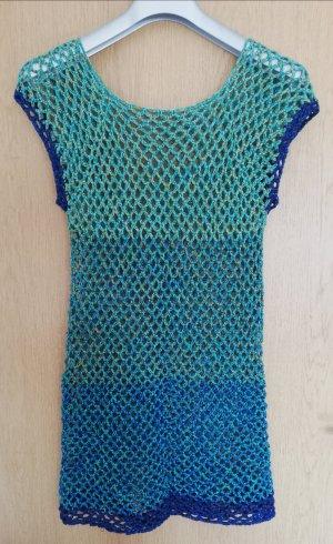 Pull en crochet multicolore