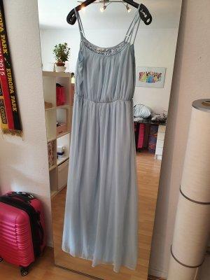 Zara Trafaluc Vestido de noche azul pálido