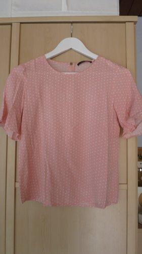 Esprit Camisa tipo túnica rosa claro-blanco Viscosa
