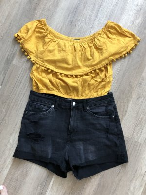 Primark Cropped shirt goud Oranje-geel