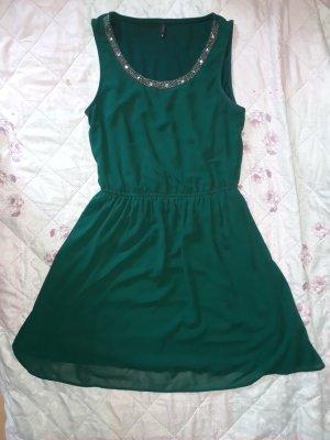 sommerliches Damen Kleid klassiker 34 xs grün