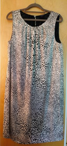 Darling Harbour Dress oatmeal-black viscose