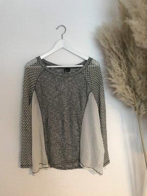 Sparkle & Fade Camicetta a maniche lunghe grigio chiaro-bianco