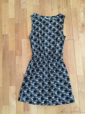 Sommerliches Kleid Schwarz weiß