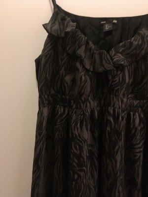 H&M Mama Robe empire noir-gris