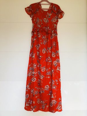Promod Maxi Dress red viscose