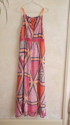 H&M Robe longue multicolore polyester