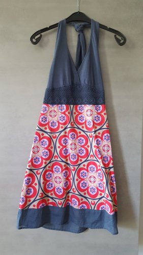 Dept Sukienka z dekoltem typu halter Wielokolorowy Bawełna