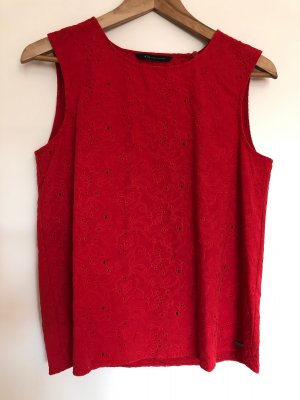 Armani Exchange Rugloze top rood-donkerrood