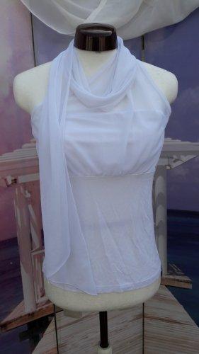 Camicia monospalla bianco