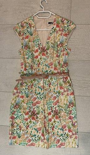 Sommerliches Satin Kleid mit Blumen Print Esprit Gr. 36 wie Neu