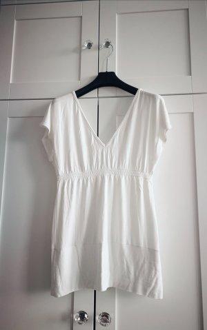 Sisley Koszula z odcięciem pod biustem biały