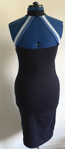 Anna Rita N Gebreide jurk donkerblauw-korenblauw