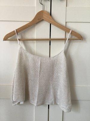 Crochet Top natural white