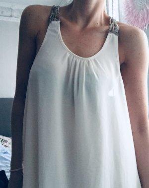 Sommerliches Trägerkleid mit Perlenstickerei, Gr. M/L