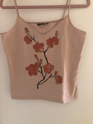 H&M Spaghetti Strap Top dusky pink