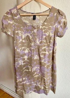 sommerliches weit ausgestelltes A-Linien Kleid von H&M aus Baumwolle mit Baumprint, NEU! Gr. 36
